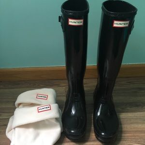 Tall Hunter Boots WITH Boot Socks!!